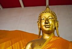 Golden Buddha. Golden statue, Thai golden statue buddha smiling Royalty Free Stock Photos