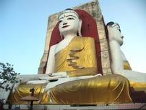 Golden Buddha. Giant statue of Buddha in a temple in Maynamar (Burma Royalty Free Stock Photos