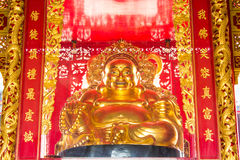 Golden buddha. Of the temple Chinese style Royalty Free Stock Photography