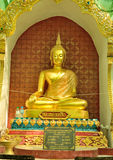 Golden Buddha art lanna Stock Photo