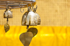 Golden Buddha bells Royalty Free Stock Images