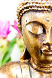 Golden buddha with bright background Royalty Free Stock Images
