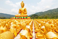 Golden buddha at Buddha Memorial park Stock Photos
