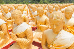 Golden buddha at Buddha Memorial park Stock Image