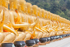 Golden buddha at Buddha Memorial park Royalty Free Stock Images