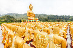 Golden buddha at Buddha Memorial park Stock Photo