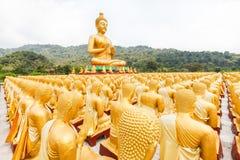 Golden buddha at Buddha Memorial park. Nakorn nayok, Thailand Stock Photo