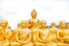 Golden buddha at Buddha Memorial park Royalty Free Stock Photo