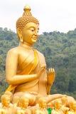 Golden buddha at Buddha Memorial park Royalty Free Stock Photography