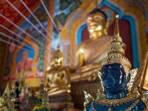Golden buddha. In Chiang Mai Temple stock images
