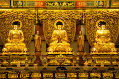 3 golden Buddha Royalty Free Stock Image