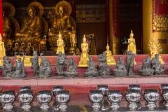 The Golden Buddha Chinese style at Wat Borom Raja Kanjanapisek W Stock Photos