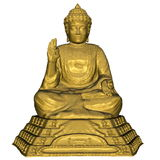 Golden Buddha - 3D render Royalty Free Stock Images