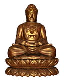 Golden buddha - 3D render Royalty Free Stock Photo