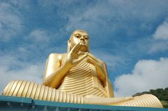 Golden Buddha at Dambulla,Sri Lanka Royalty Free Stock Images