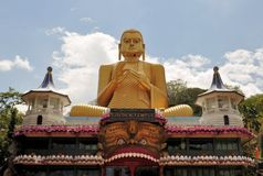 Golden Buddha of Dambulla, Sri Lanka. Royalty Free Stock Photography