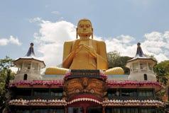Golden Buddha of Dambulla, Sri Lanka. royalty free stock photography