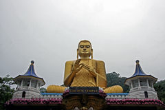 Golden Buddha in dambullla Stock Photos