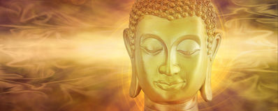 Golden Buddha in Deep Contemplation Stock Images
