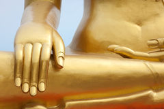 Golden buddha detail Royalty Free Stock Photo