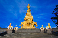 The golden buddha of Emeishan peak. Stock Photography
