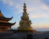 The golden buddha of Emeishan peak. Stock Images