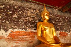 Golden buddha. Every temple in Thailand,we can find it Stock Image