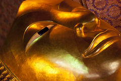 Golden Buddha Face Royalty Free Stock Photo