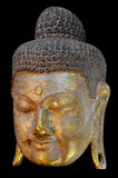 Golden Buddha Face. Royalty Free Stock Image