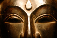 Golden Buddha Face Royalty Free Stock Photos