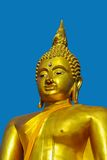 Golden buddha face Stock Photo