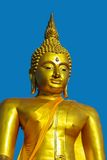 Golden buddha face Stock Images