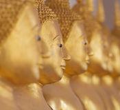 Golden buddha face. Royalty Free Stock Photos