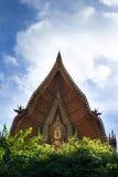 Golden buddha face at Tham Sue Temple, Kanchanaburi, Thailand. Royalty Free Stock Photos