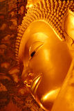 Golden buddha face Royalty Free Stock Photography