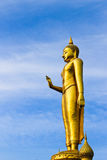 A golden buddha figure at Hatyai, Thailand. A golden buddha figure at Hatyai, Songkhla,Thailand Stock Images