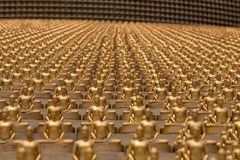 Golden Buddha figurine in Wat Phra Dhammakaya. Bangkok, Thailand Stock Image
