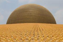 Golden Buddha figurine in Wat Phra Dhammakaya. Bangkok, Thailand Stock Photos