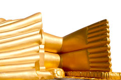 Golden buddha foot image. Big Golden buddha foot image Stock Image