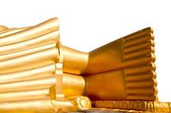 Golden buddha foot image Stock Image