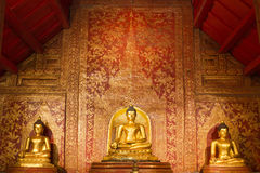 Golden Buddha. 1300 year old in Chiang Mai Thailand Stock Photography