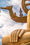 The golden Buddha hand Royalty Free Stock Photography