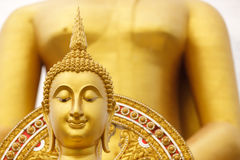 Golden buddha head Royalty Free Stock Images