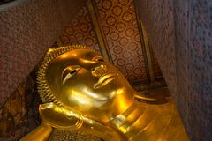 Golden Buddha head Royalty Free Stock Image