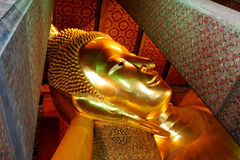 Golden Buddha Head Statue Royalty Free Stock Photography