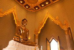 Golden buddha icon Royalty Free Stock Images