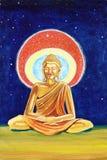 Golden Buddha illustration Stock Photos