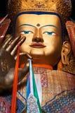 Golden buddha image. Golden buddha in tibetan temple, Tibet Stock Photo