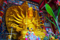 Golden buddha image. China Buddha image in the Chinese temple Stock Images