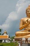 Golden buddha image. Big golden buddha souht of Thailand stock image